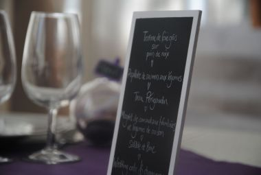Menus adapted to your requests