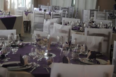 Beautiful tables for a wedding party