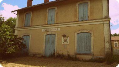 Gare de Saint Jean de Côle sur la Voie Verte