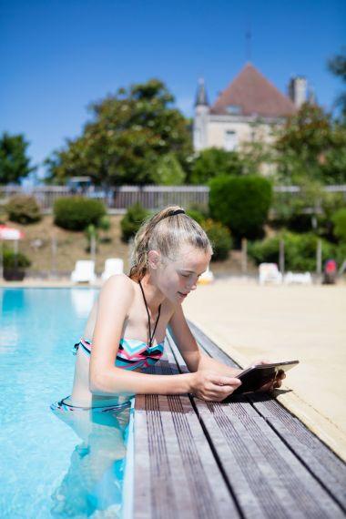 Zwemmen met WiFi in de buurt