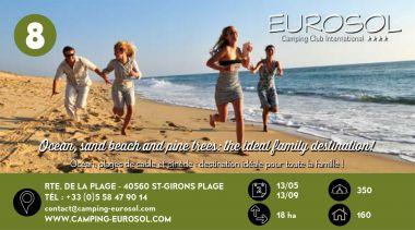 Eurosol à Vielle Saint Girons au Bord de l'Océan Atlantique