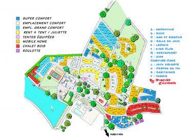 Plan du Camping Périgord