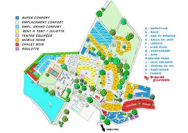 plan château le Verdoyer camping Dordogne