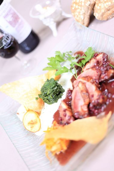 Magret de Canard with red fruits