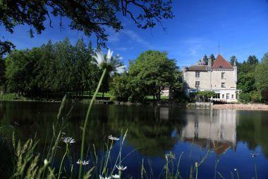 A castle near water