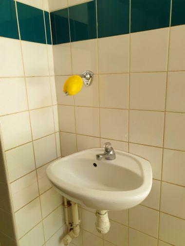 De savon à l'entrée des sanitaires