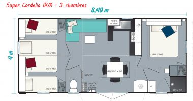 Mobile Home 3 chambres IRM