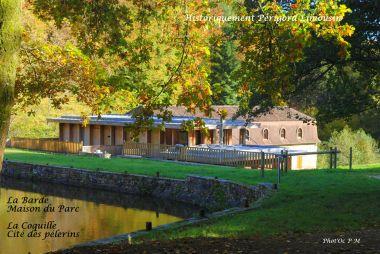 la Maison du Parc à la Coquille - étang de la Barde