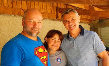 Flo en Véro, met Patrice Martin, een grote Franse Sportief !
