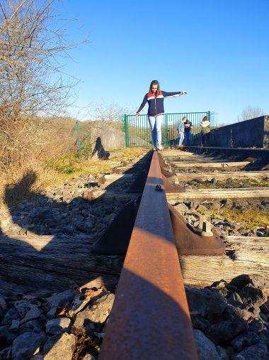op de oude spoorlijn Dordogne
