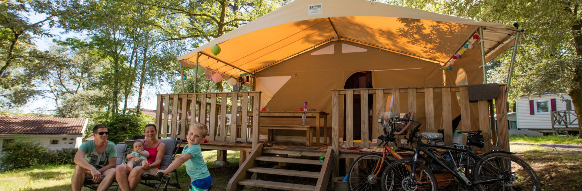 locatie Périgord tent lodge