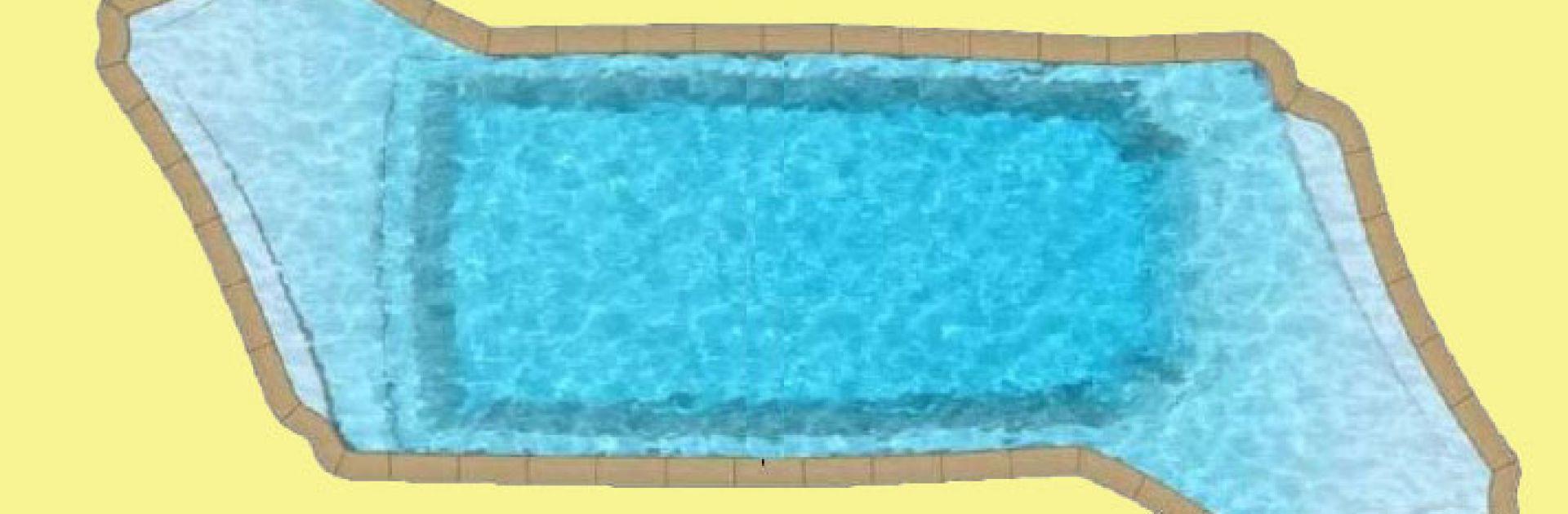 Overdekt indoor pool zwembad piscine Dordogne